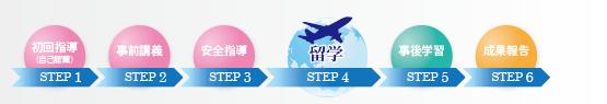 海外派遣プログラムの流れ